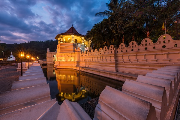 Temple of the Sacred Tooth Relic at Kandy, Sri Lanka